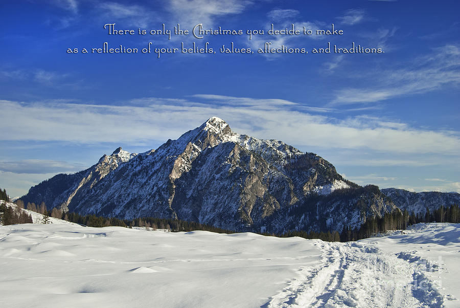 Winter Photograph - Christmas In Austria Europe by Sabine Jacobs