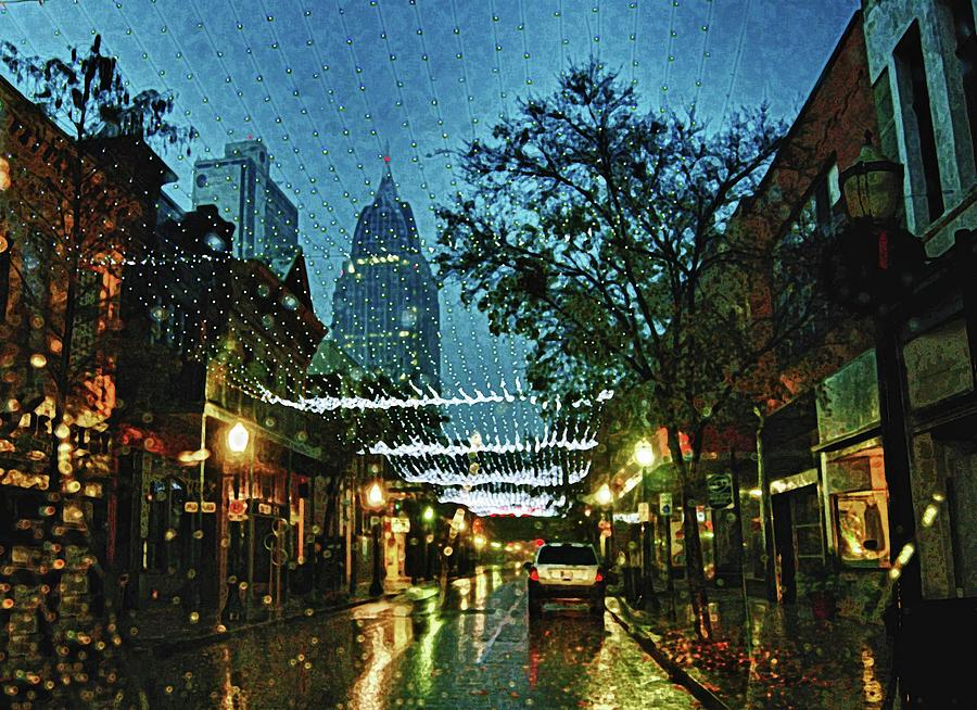 Mobile Digital Art - Christmas Lights Down Dauphin Street by Michael Thomas