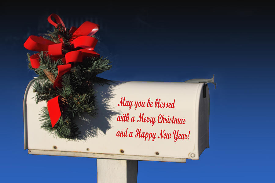 Holiday Photograph - Christmas Mail Box by Linda Phelps