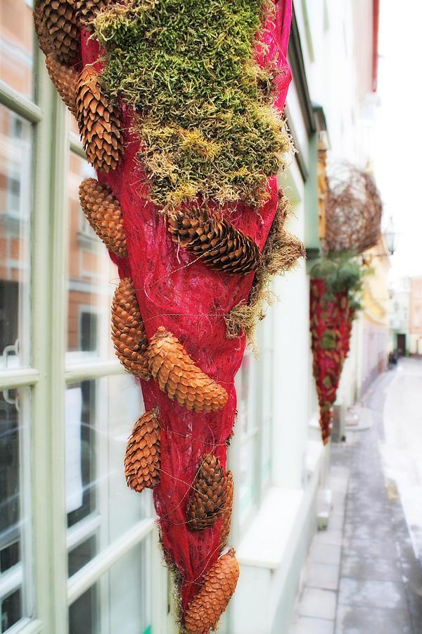 Christmas Photograph - Christmas Ornaments In The Street by Aleksandr Volkov