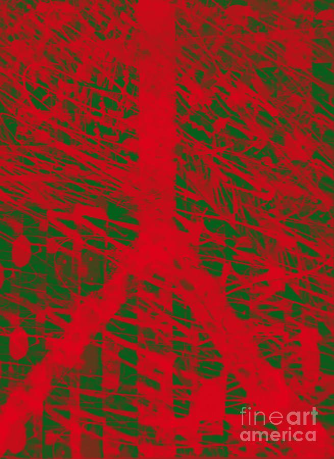 Red Digital Art - Christmas Peace by Robert Haigh