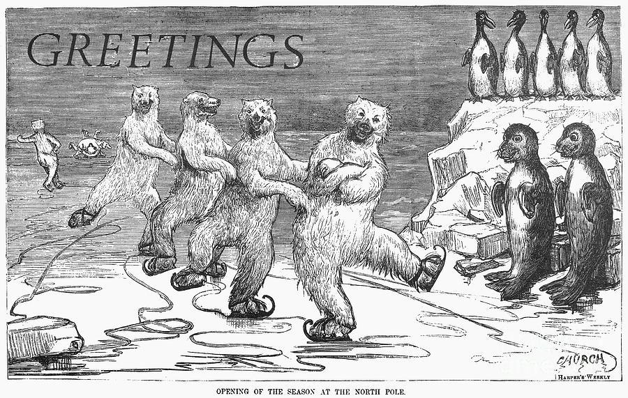 1875 Photograph - Christmas: Polar Bears by Granger