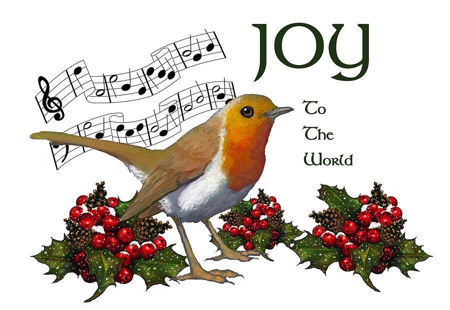 Christmas Pastel - Christmas Robin by Joyce Geleynse