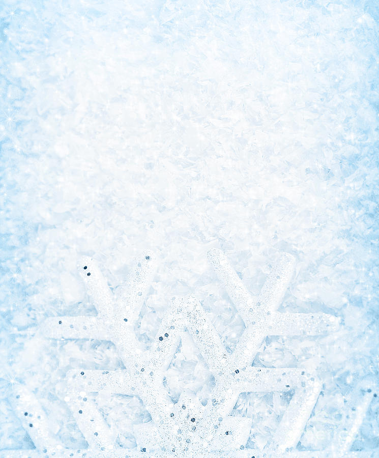White Christmas Snow Background.Christmas Snow Background Snowflake Border