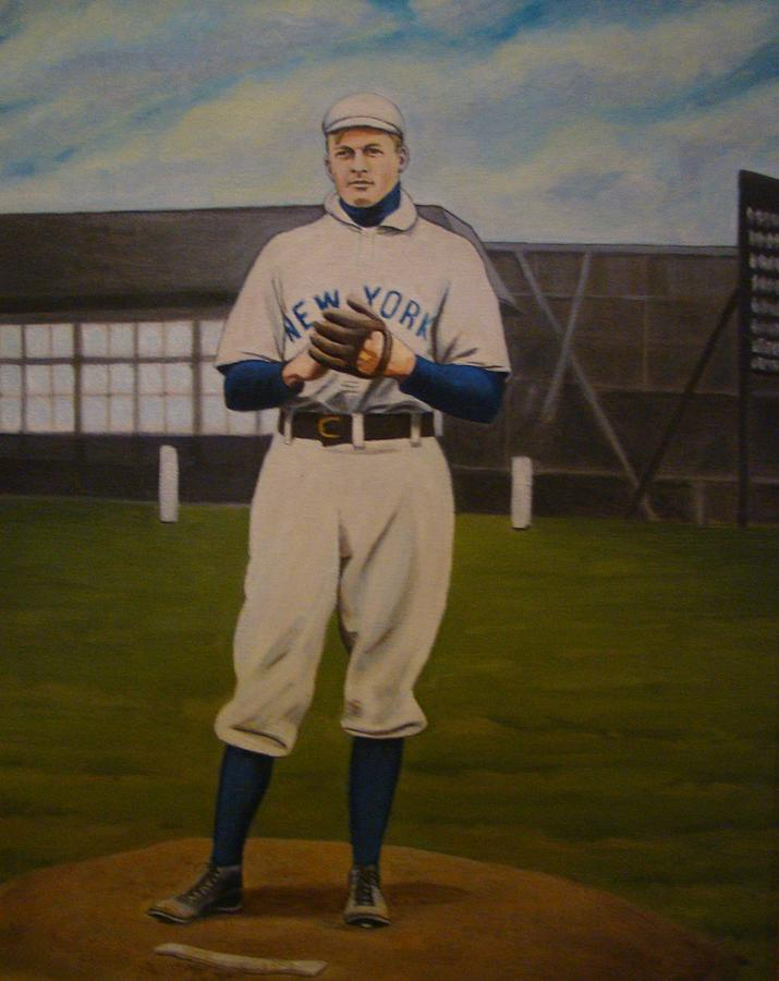 Giants Painting - Christy Mathewson by Mark Haley