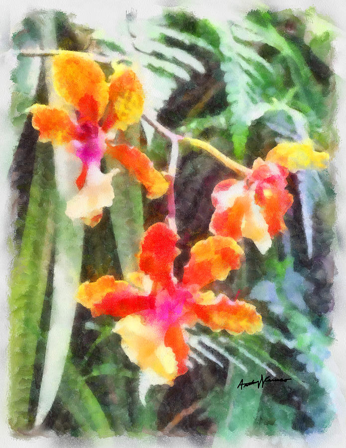 Flowers Painting - Chromaticorchids by Anthony Caruso