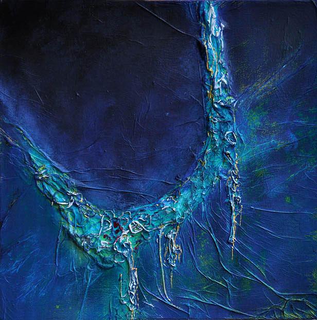 Chromatiquement bleu Painting by Lesuisse Viviane