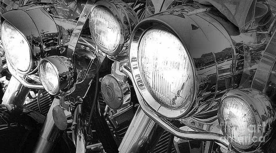 Motorcycle Photograph - Chrome And Lights by David  Hubbs