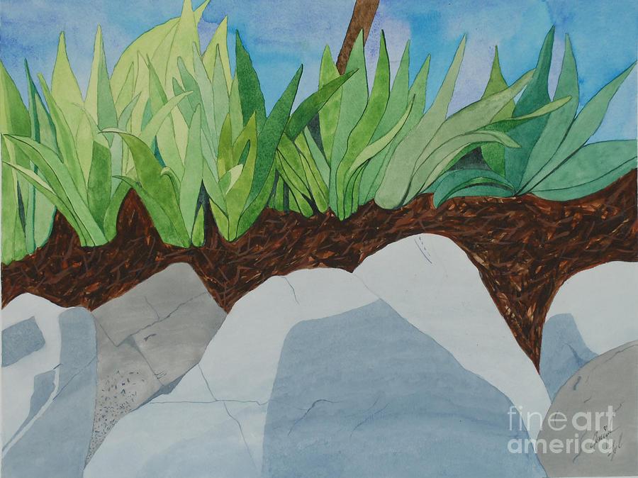 Chromitic Iris Painting by Jennifer Taylor Rogerson