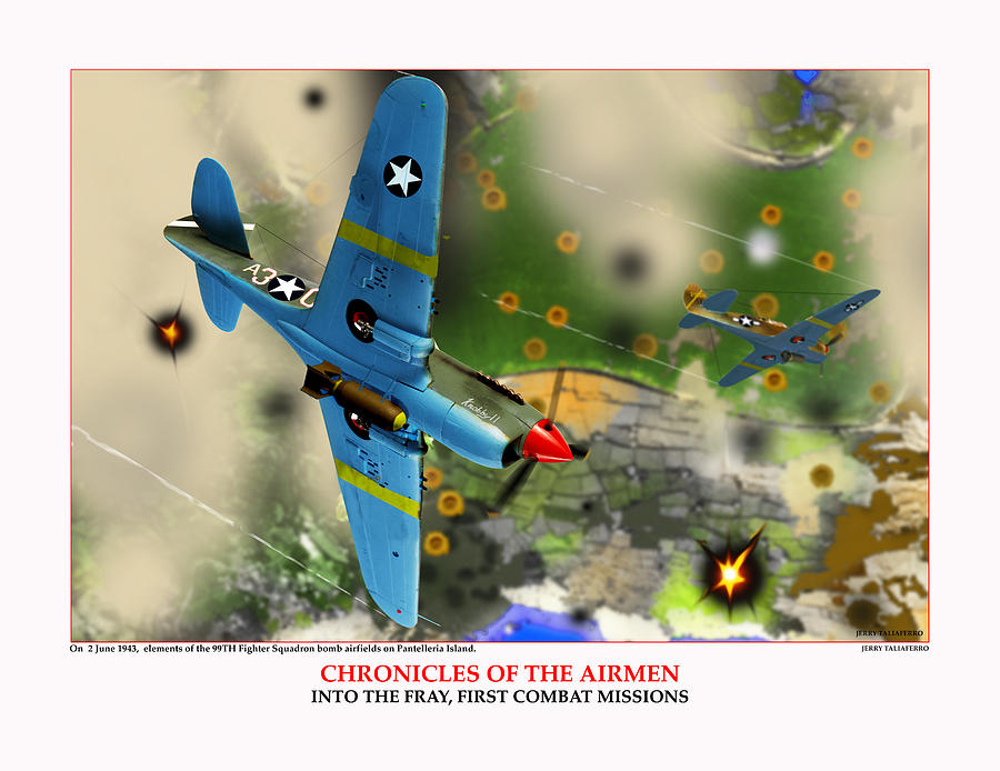 World War Two Digital Art - Chronicles Of The Airmen Into The Fray by Jerry Taliaferro