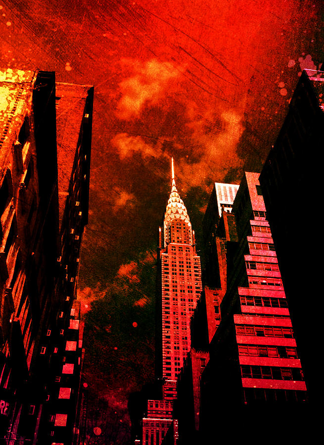 Surreal Photograph - Chrysler Building - New York City Surreal by Vivienne Gucwa