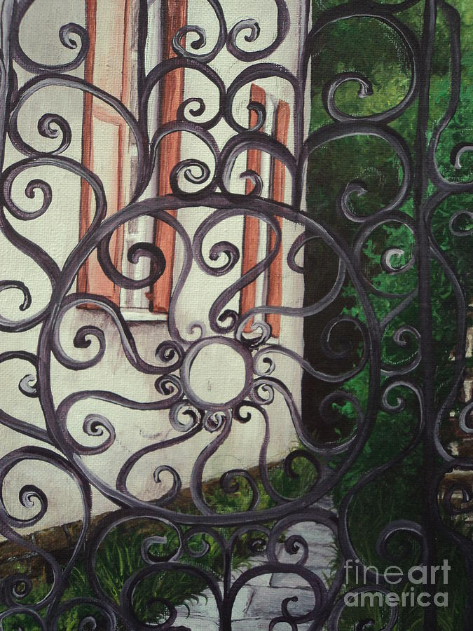 Acrylic Painting - Chuch St. Iron Gate by Osee Koger