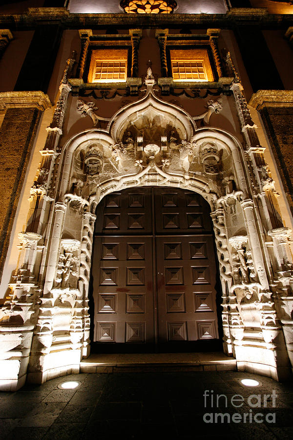 Door Photograph - Church At Night by Gaspar Avila