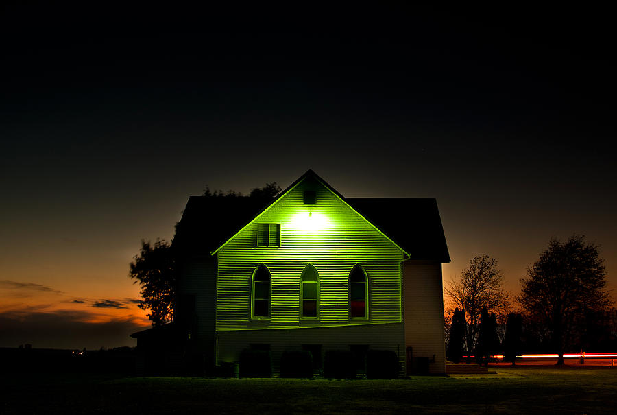 Church At Sunset Photograph