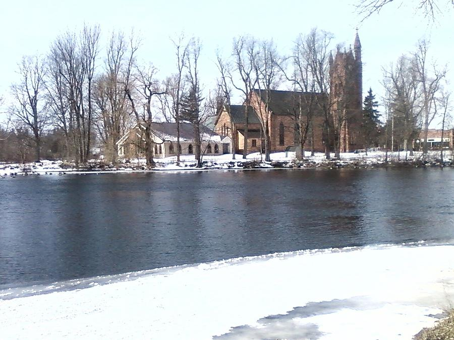 Church By The River Photograph by Cecelia Taylor-Hunt