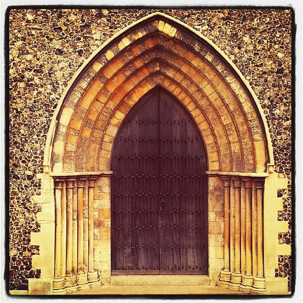 Stone Photograph - Church Door #church #door #yarmouth by Invisible Man