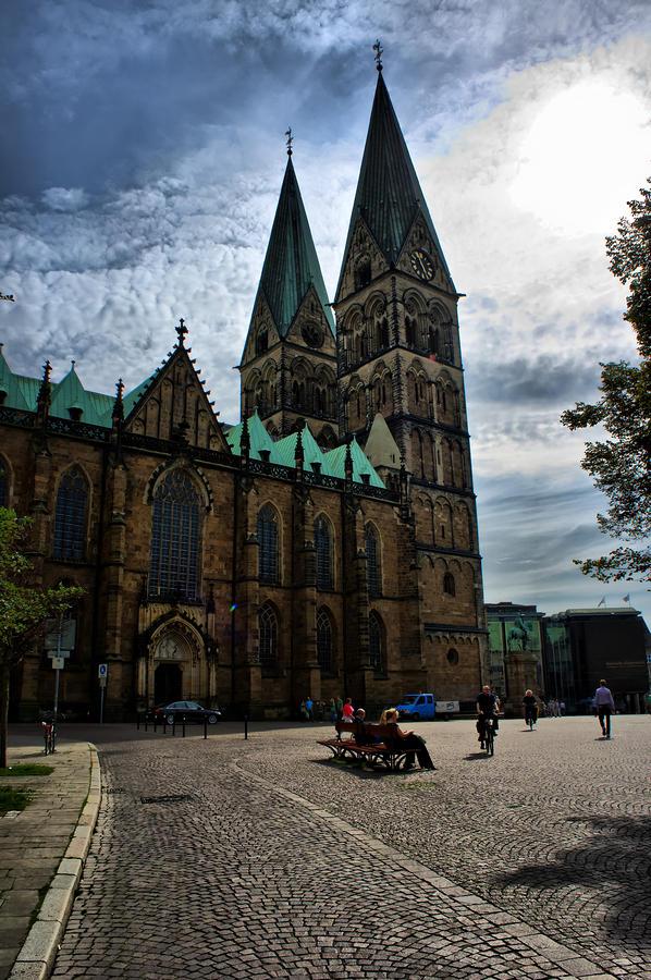 Bremen Photograph - Church in Bremen Germany 2 by Edward Myers