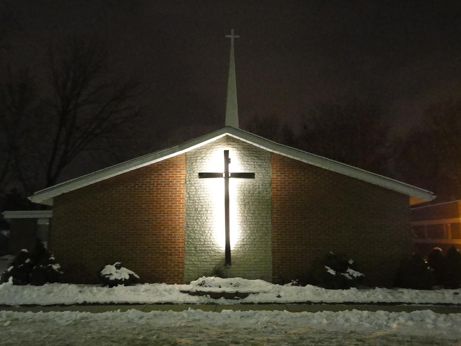 Church Photograph - Church In The Snow by Guy Ricketts