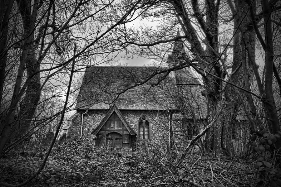 Wychling Photograph - Church In The Woods by Dave Godden