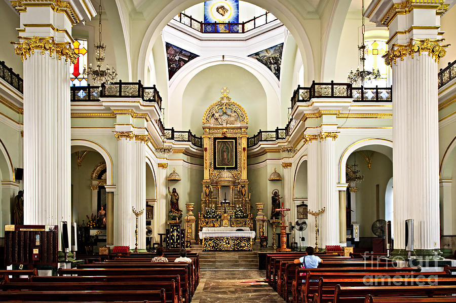 Church Photograph - Church Interior In Puerto Vallarta by Elena Elisseeva
