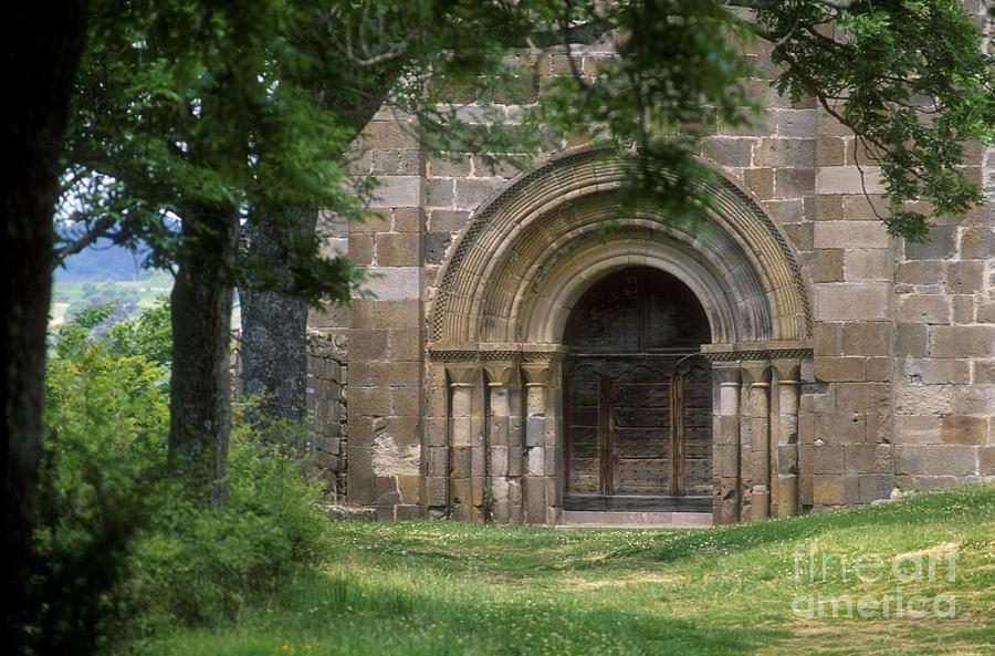 Auvergne Photograph - Church Of Bredons.cantal. France by Bernard Jaubert