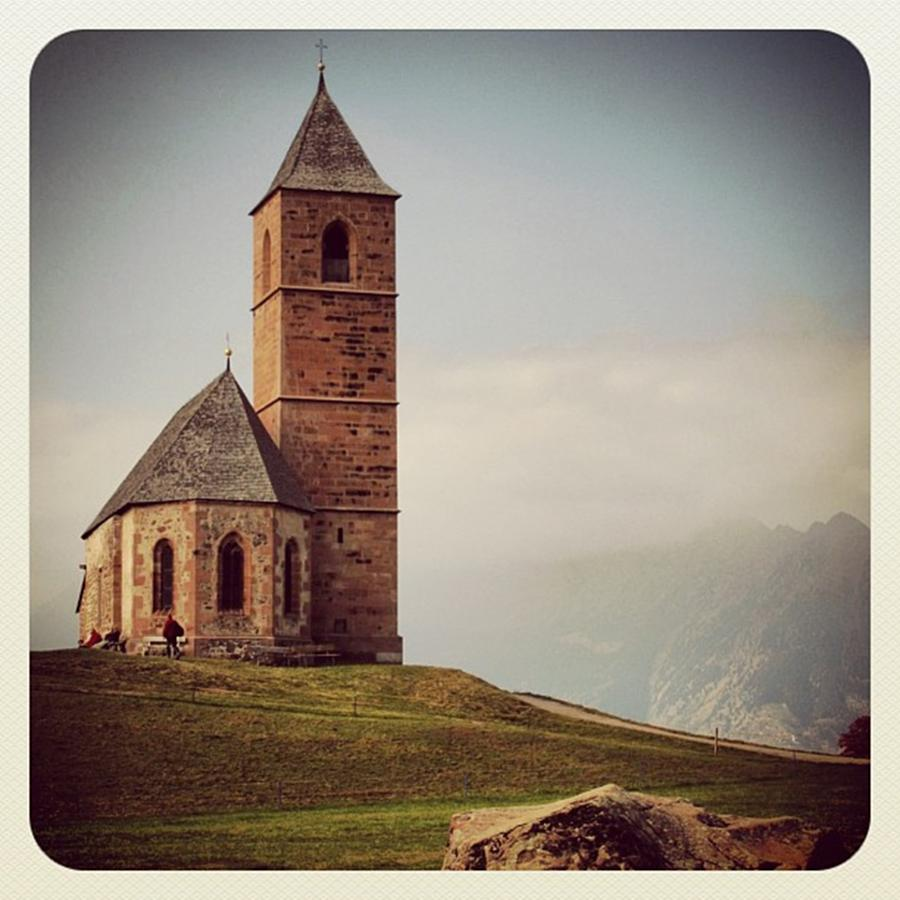 Church Photograph - Church of Santa Giustina - Alto Adige by Luisa Azzolini