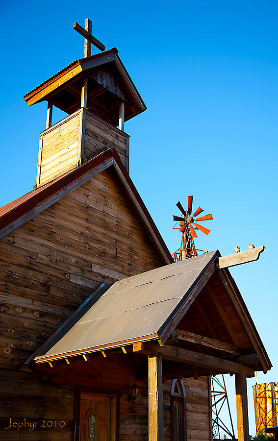 Church On The Mount - Goldfield Ghost Town Photograph by Jephyr Art