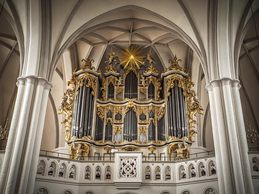 Church Painting - Church Organ by Kurt Forschen