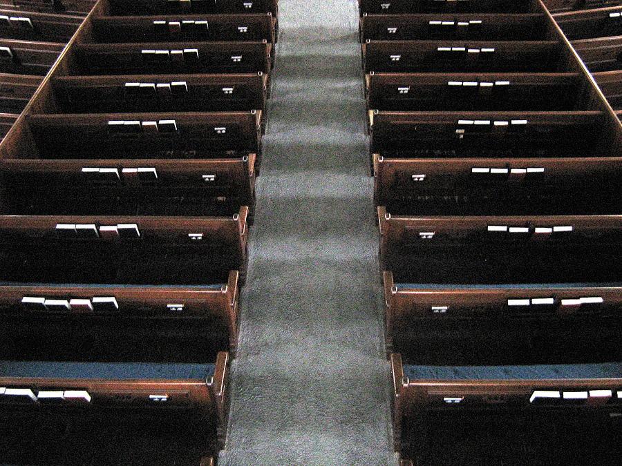 Church Photograph - Church Pews by Bruce Carpenter