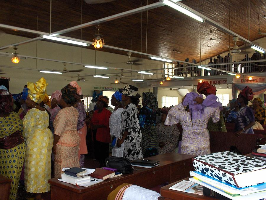 Church Photograph - Church Service In Nigeria by Amy Hosp