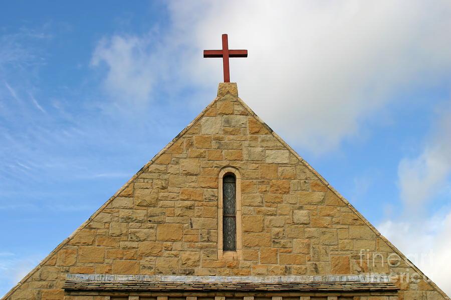 Antique Photograph - Church Top by Henrik Lehnerer