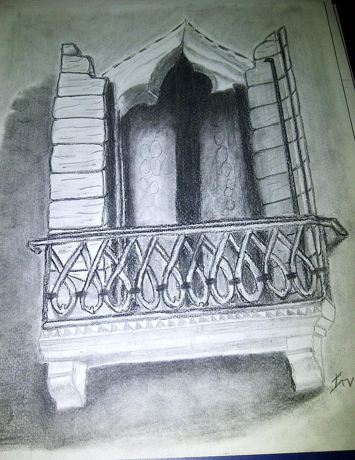 Church Window Drawing by Irving Starr