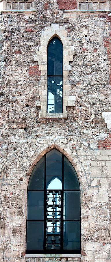 Church Bells Photograph - Church Windows by Shirley Mitchell