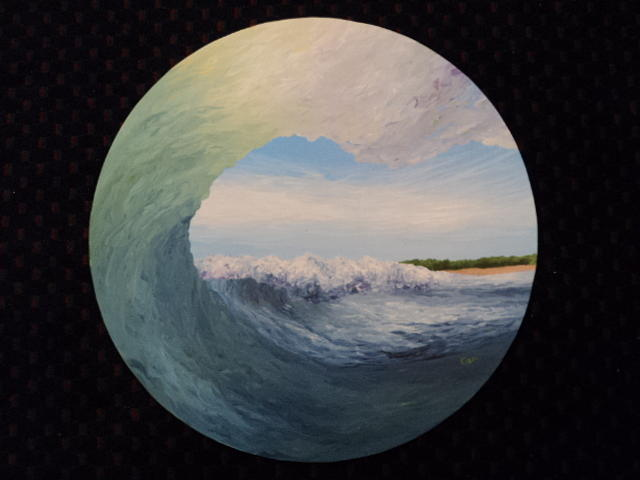 Wave Painting - Cicle Wave by Osee Koger