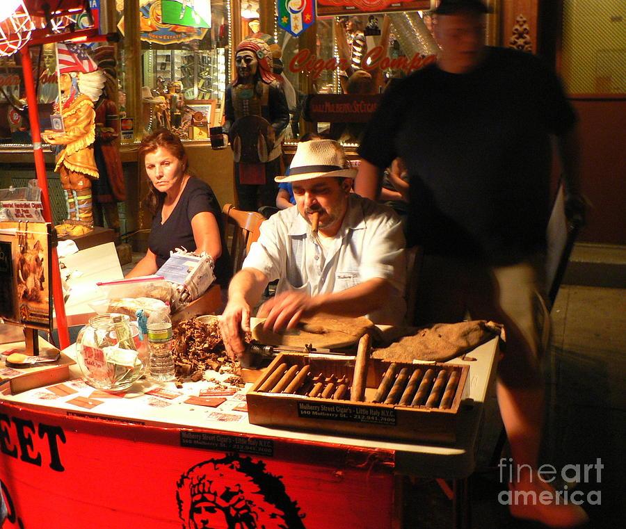 Cigar Roller Photograph - Cigar Roller Little Italy by Elizabeth Fontaine-Barr