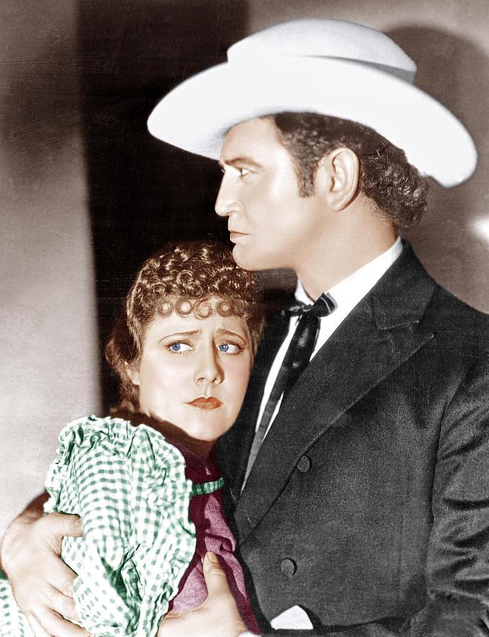 Cowboy Hat Photograph - Cimarron, From Left Irene Dunne by Everett