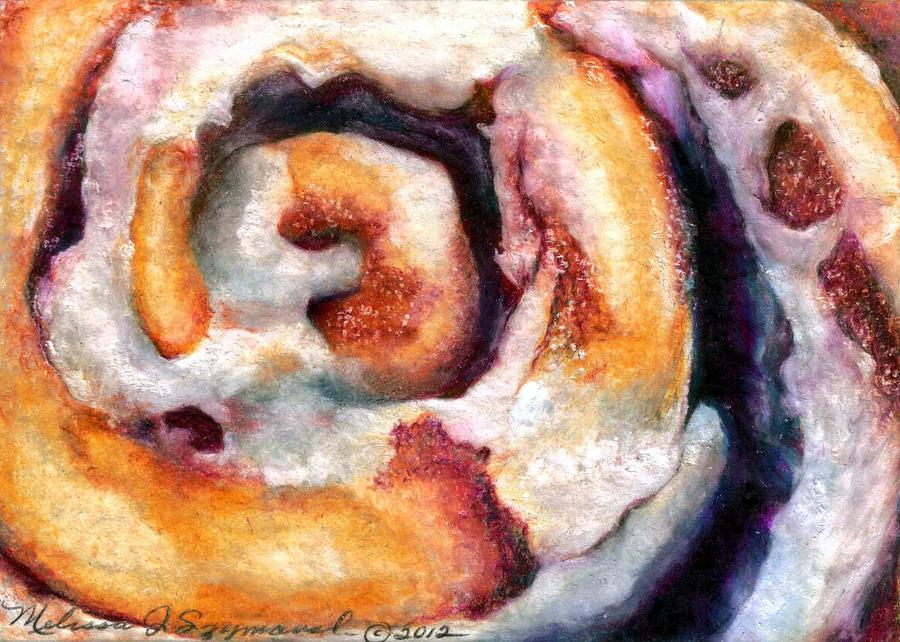 Cinnamon Drawing - Cinnamon Roll by Melissa J Szymanski