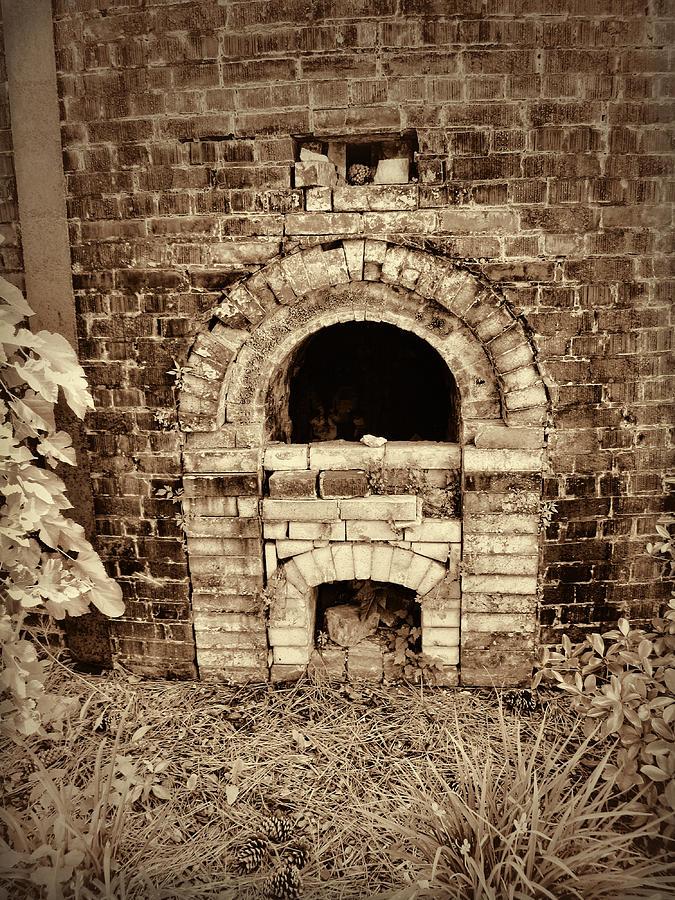 Circa 1800s Brick Kiln Fire Box In Sepia Photograph By