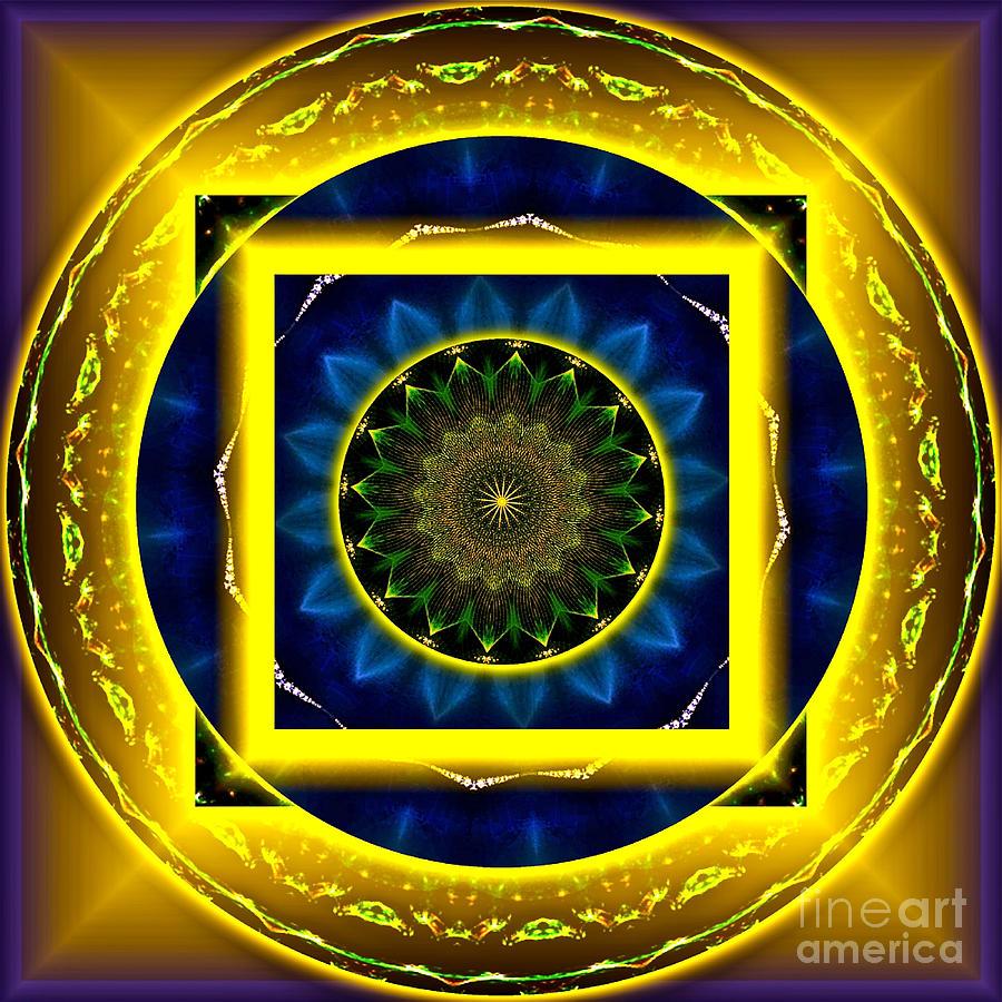 Mandala Digital Art - Circle Of Power by Rotaunja