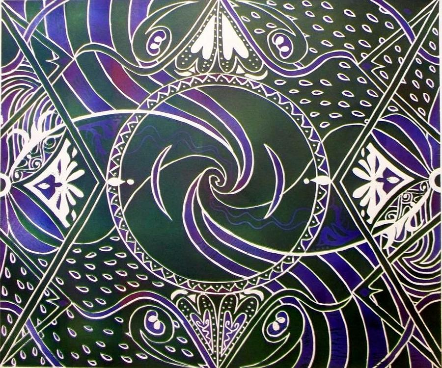 African Art Relief - Circle Print by Samar Asamoah