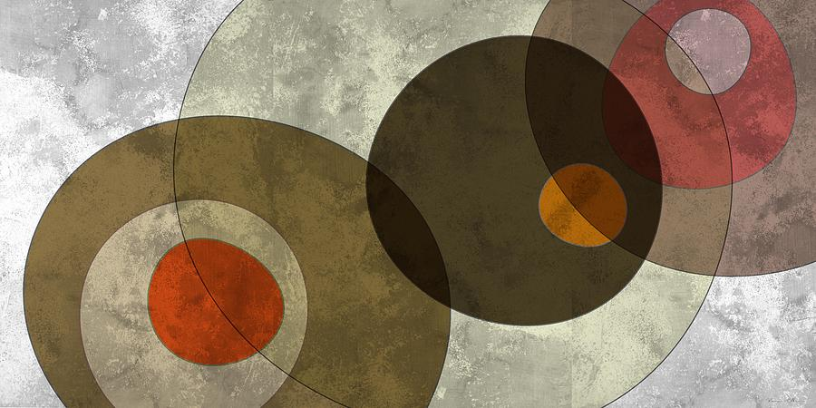 Abstract Digital Art - Circled Tones by Nomi Elboim