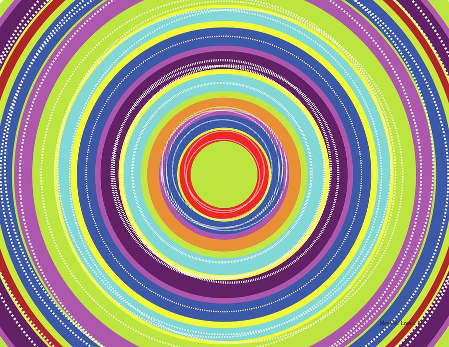 Circles Digital Art - Circles by Maria Lopez