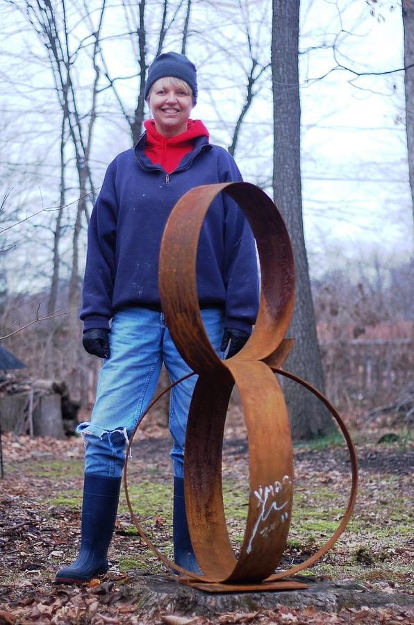 Heart Sculpture - Circles Of Life by Mac Worthington