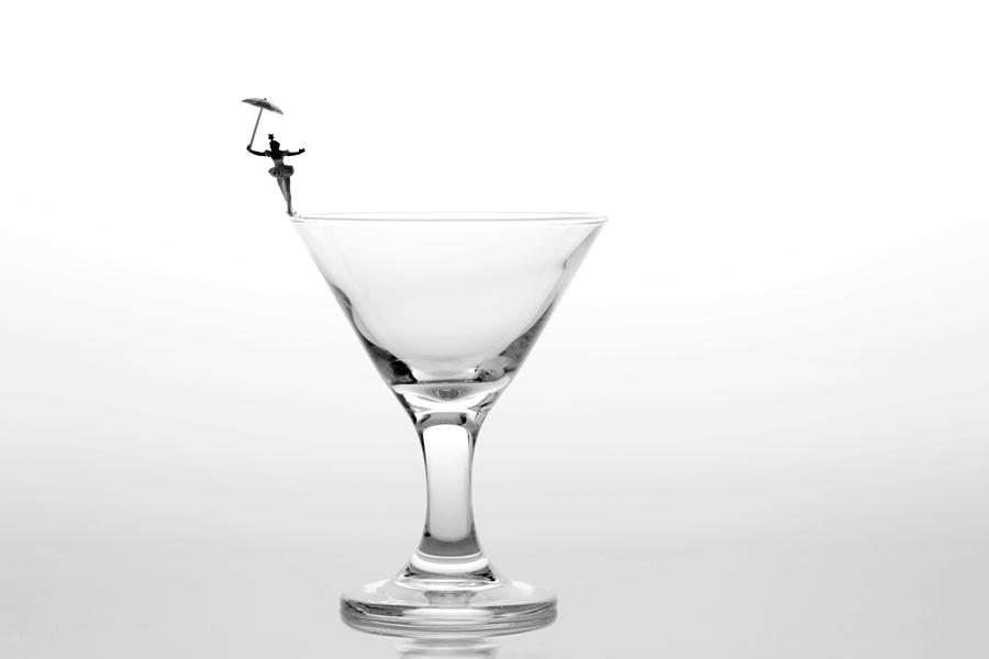 Black Photograph - Circus Balance Game On Cup Edge by Paul Ge