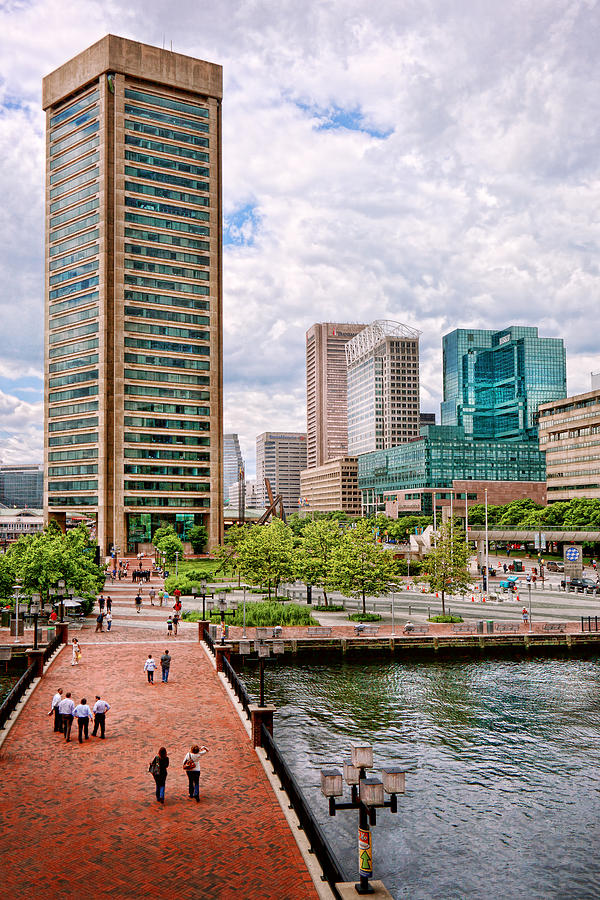 Baltimore Photograph - City - Baltimore Md - Harbor Place - Baltimore World Trade Center  by Mike Savad