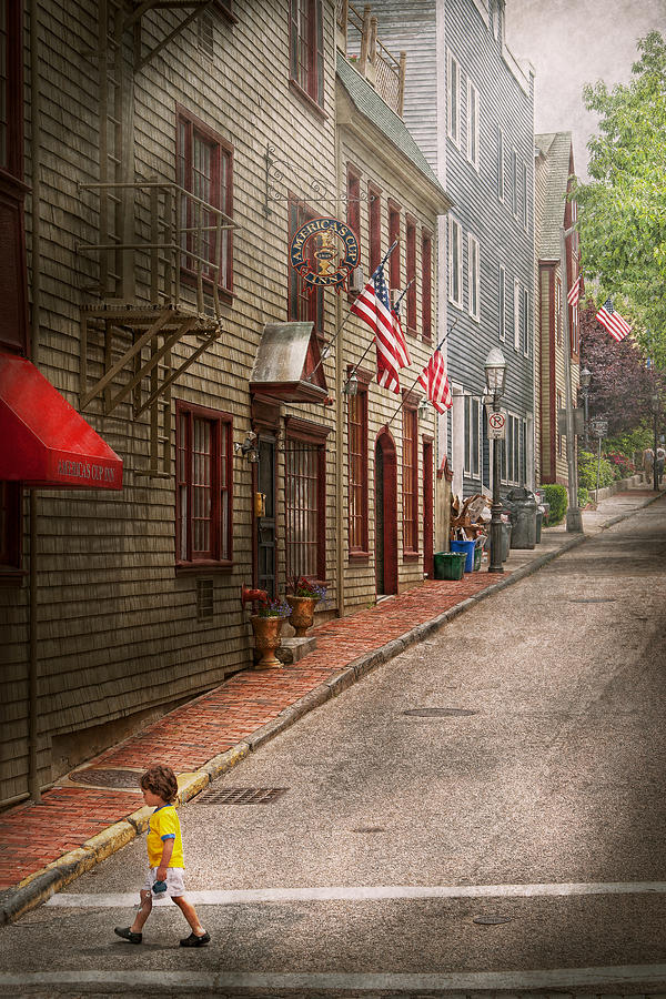 Rhode Photograph - City - Rhode Island - Newport - Journey  by Mike Savad