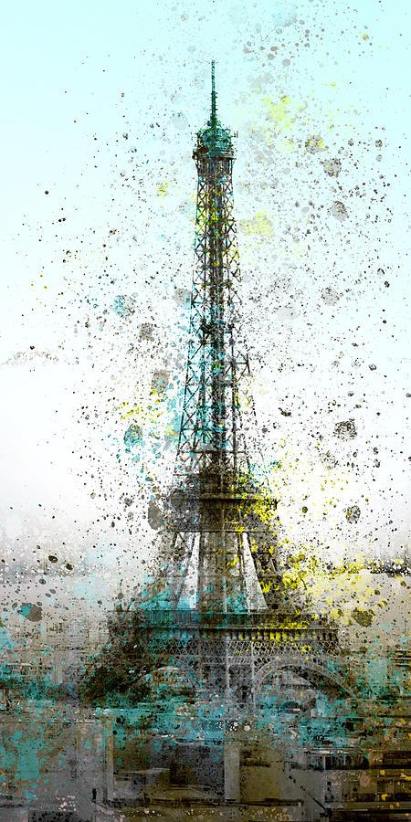 Europe Digital Art - City-art Paris Eiffel Tower II by Melanie Viola