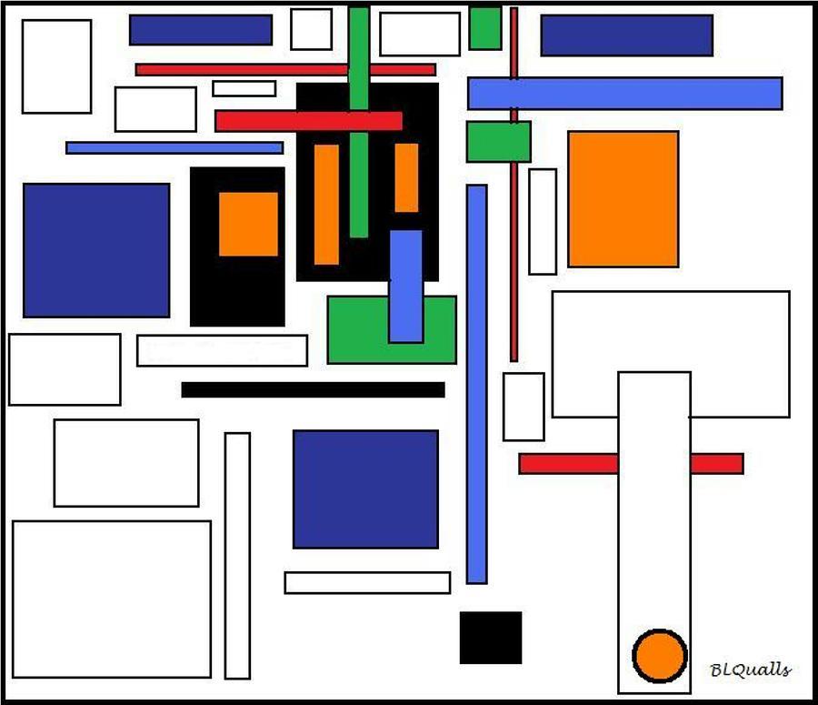 Abstract Digital Art - City Colors 4 by B L Qualls