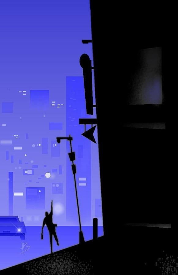 city Corner Digital Art by Bryan  Rhoads