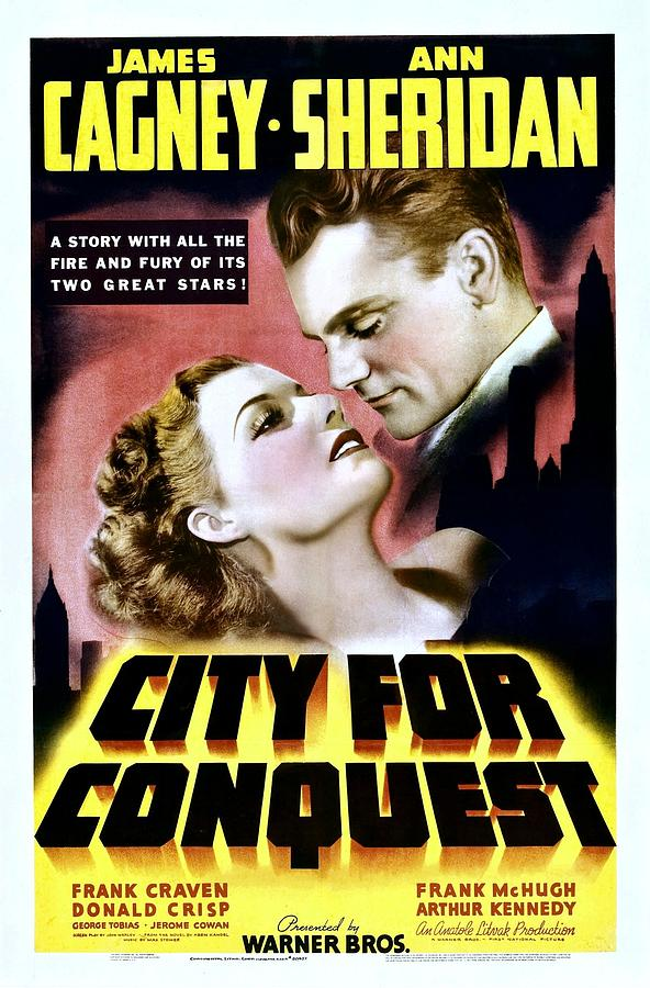1940 Movies Photograph - City For Conquest, Ann Sheridan, James by Everett